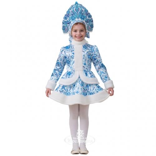 Карнавальный костюм Снегурочка Гжель с кокошником 3a7c1cd0d2558