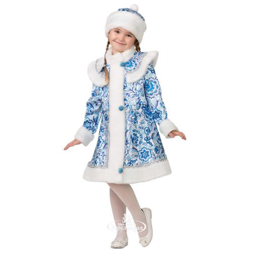 Карнавальный костюм Снегурочка Гжель с шапочкой f0550b4be424e
