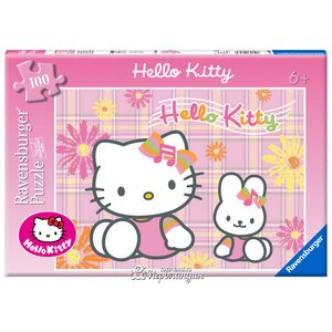 "Пазл ""Hello Kitty с зайкой"", 100 эл."