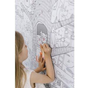 Большая бумажная раскраска Жизнь на дереве 120*80 см ...